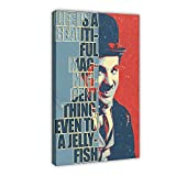 Poster Charlie Chaplin Citation de motivation Art 0 sur toile murale Décoration de chambre à coucher Sports Paysage Bureau Décoration de chambre Cadre cadeau 60 × 90 cm