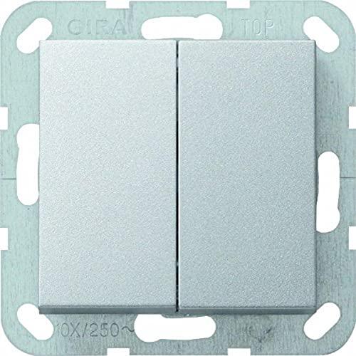 Gira 2028527 Tastschalter 012526 Serienschalter System 55 Alu, 250 V
