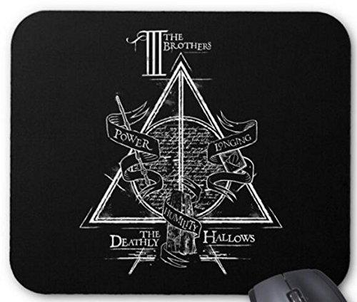 Harry Potter Spell – Tapis de souris graphique Hallows – Accessoires informatiques, tapis de souris de jeu 30,5 x 23,8 cm