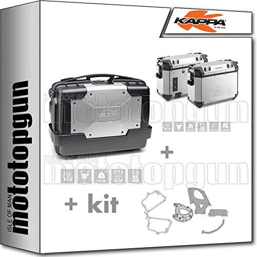 KVE37APACK2 - Maletín con portaobjetos y soporte Monokey + portaequipajes lateral desmontable, diseño retro Fit compatible con trípode Tiger Sport 1050 2016 16