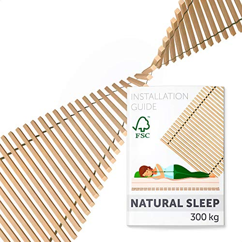 Hansales Bed Slats Premium Single 100x200-41 Slats Replacement - No Frame Slatted Base - Solid Wooden Bed Slats For Single Bed Frame - 100 x 160 180 190 200 210 cm