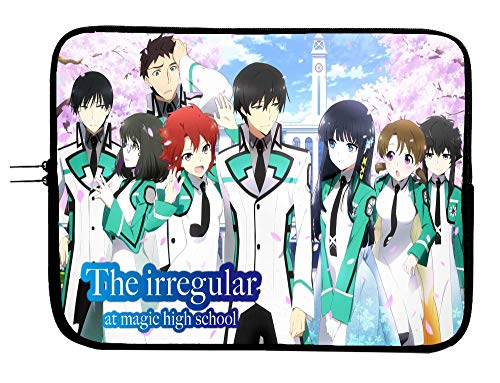 Brand4 The Irregular at Magic High School Anime Laptop Sleeve Bag w/Mousepad Surface - 15 Inch Laptop Sleeve Case Protects All Anime Computer Bag Laptop Sleeve Tablet & Windows Devices