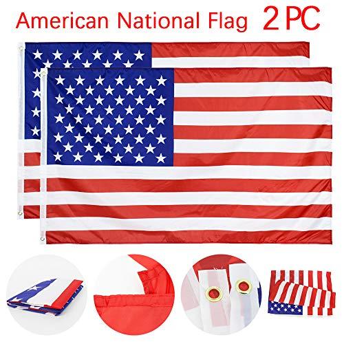 2 PC Nationalflagge Amerikanische US Flagge Große Flagge der Vereinigten Staaten, 5 x 3 ft (150 x 90 cm) Nationale Sportveranstaltungen, Firmenbanner