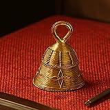 ExclusiveLane 'Tinkling Melody' Brass Decorative Mandir Pooja Small Bell