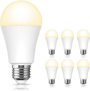 ロハス LED電球 E26口金 100W形相当 電球色 13W 高輝度 1250lm 一般電球形 調光器具対応 全方向タイプ 密閉形器具対応 省エネ 6個入
