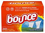Bounce Dryer Sheets Laundry Fabric Softener, Outdoor Fresh Scent, 240 Count