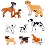 Dog Figurines Toy Playset 10Pcs, Hand Painted Plastic Dogs Figures, Realistic Pet Puppy Figures...
