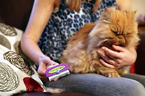 FURminator Fellpflege deShedding-Pflegewerkzeug für langhaarige große Katzen über 4,5 kg, Größe L, 1 Tool - 5