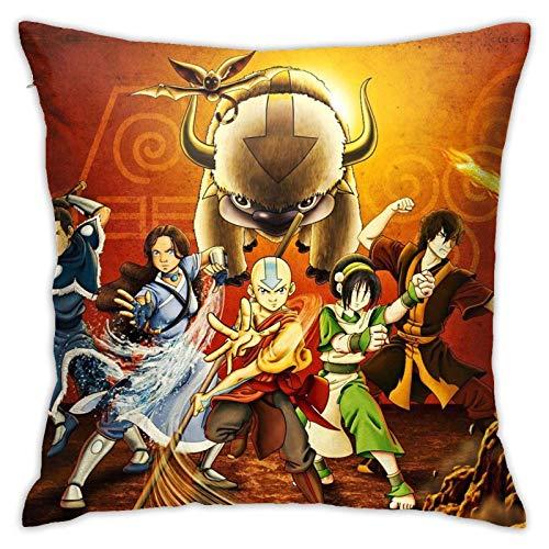 FETEAM The Last Airbender Throw Pillow Covers Soft Square Cushion Cubre Inserciones Decorativas de Almohada para sofá decoración del hogar