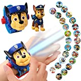 helegeSONG Paw Patrol Boys Watch with 24 Projection Patterns Cartoons Kids Digital Watch Toys for Boys Girls Childrens Toys Watch with Lid Adjustable Date & time Projector Watch