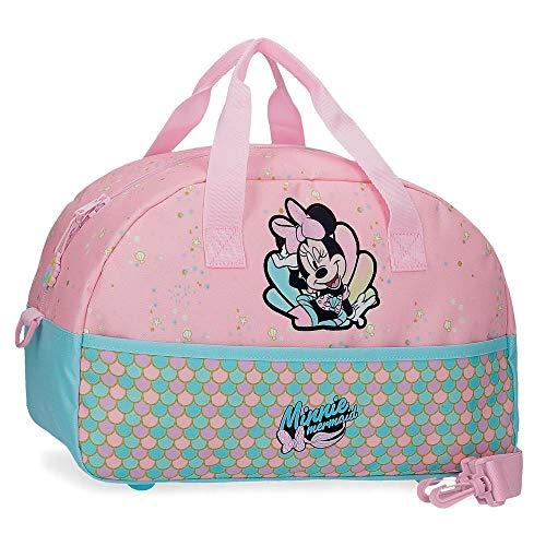 Disney Minnie Mermaid Borsa da viaggio Rosa 40x25x18 cms Poliestere 17.28L
