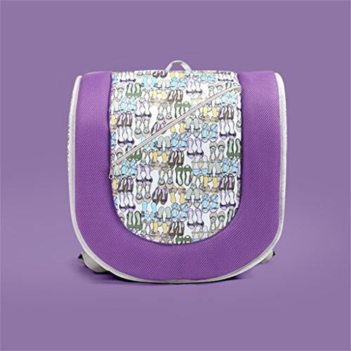 Ali@ Bébé Table à langer Portable Bébé Pliant Sangle Lit Portable Coton Soie Coeurs Lit de Bébé Sortir Voyage Lit de Voyage Trois Couleur En Option (Couleur : Purple)