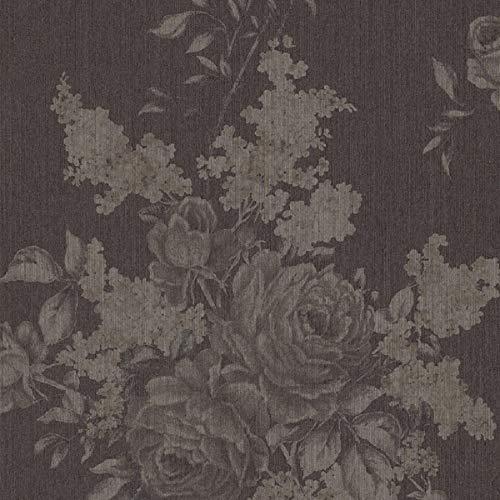 Casa Padrino Barock Textiltapete Grau/Braun 10,05 x 0,53 m - Wohnzimmer Deko Accessoires