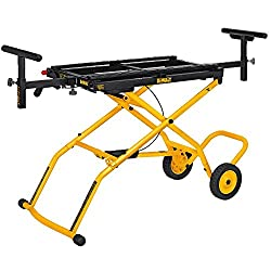 in budget affordable DEWALT DWX726 stand with miter saw wheel, yellow