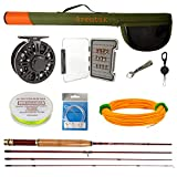 Z Aventik Fly Fishing Combo Fly Rod 0/1 2/3 3/4WT Graphite Large Arbor Fly Fishing Reel with Line...