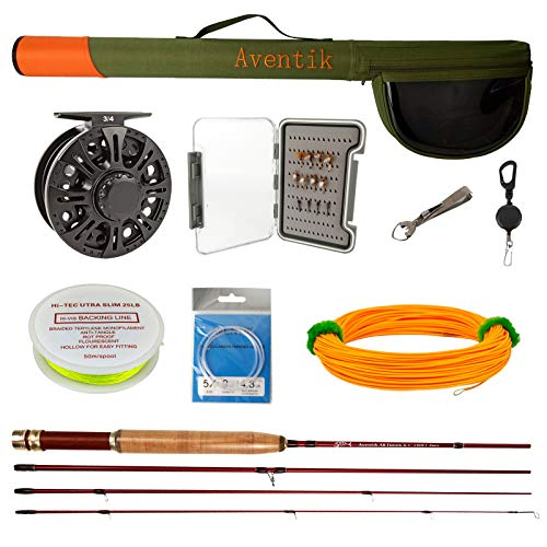 Z Aventik Fly Fishing Combo Fly Rod 0/1 2/3 3/4WT Graphite Large Arbor...