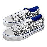 Jex Shoes - Zapatillas de Sintético para niño Azul Blanco, Color Azul, Talla 36 EU