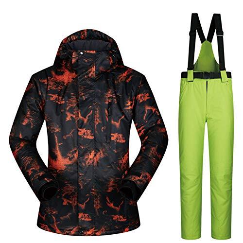 MEOBHI ski pak Ski pak Mannen Nieuwe Winddichte Waterdichte Kleding Ski Jas en Broek Sneeuw Sets Winter Skiën en Snowboarden Suits voor Mannen