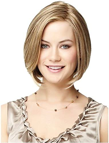 WIGSTYLE Perruques mode mode belle blond perruque courte ligne droite