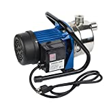 EXTRAUP Stainless Steel Electronic Portable Shallow Well Pump Booster Pump Lawn Sprinkling Pump Home Garden Water Pump (1HP)