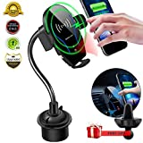 Car Cup Phone Holder&Air Vent Wireless Car Charger,[Automatic Infrared-Sensing][10W Fast Charging]Car Phone Mount Fits for Samsung Galaxy S10/S10+,iPhone 11/11 Pro/11 Pro Max/X/XS Max,QI-Enabled Phone