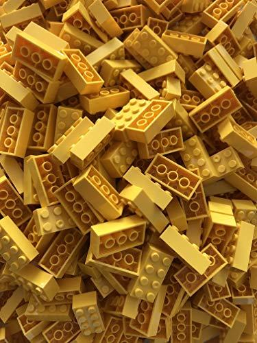 JUMEI Bausteine ( Bricks ) 8 er 4x2 Noppen 500 Stück 100 % Kompatibel zu Allen Anderen Herstellern (Gelb)