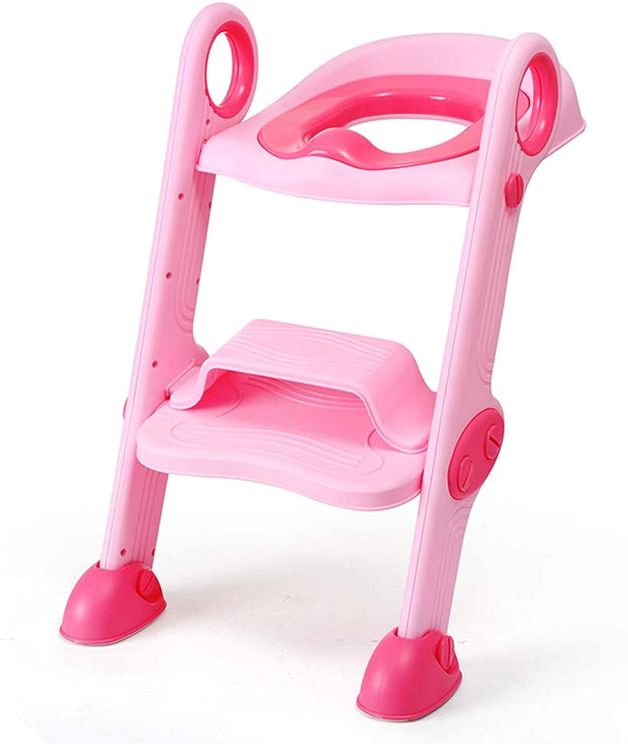 Qi Peng Stepped Baby Toilet Toilet Toilet Ladder Girl Baby Kid Boy Potty Seat Cover Cover Seat Ring (color   Pink, Edition   A)
