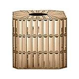 nu steel Kosmetiktuchbox, dekorativ, quadratisch, aus Kunstharz, für Badezimmer-Arbeitsplatten, Schlafzimmer-Kommode, Nachttisch, Schreibtisch und Tische, 14,5 cm L x 14,5 cm B x 13,5 cm H