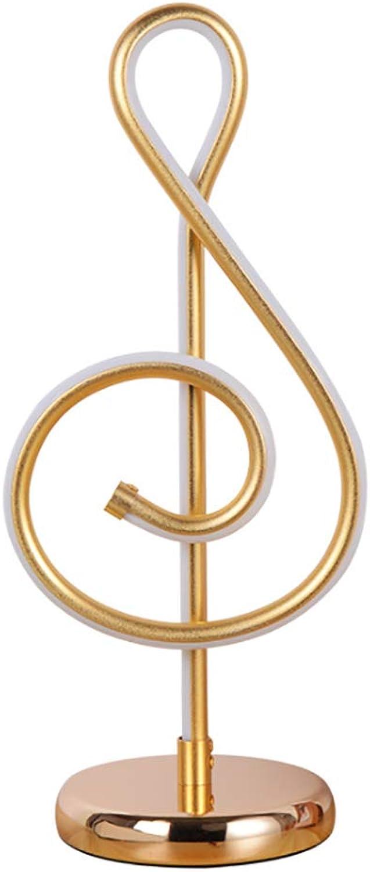YRL Eiserne Tischlampe, Moderne minimalistische Musik Symbol Acryl Schlafzimmer Nachtzimmer-Wohnum-Rebaum Persnlichkeit Augenschutz LED-Licht