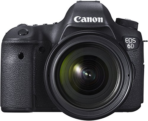 Canon EOS 6D SLR-Digitalkamera (20,2 MP, OS-Sensor, Live View, Full HD, WiFi, GPS, DIGIC 5+, Kit inkl. EF 24-70mm 1:4 L IS USM Objektiv) schwarz