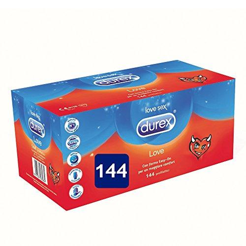Durex Love Giga Pack Preservativos Comfort Fáciles de llevar, 144 unidades