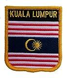 1000 Flaggen Kuala Lumpur Malaysia Schild Bestickt Aufnäher