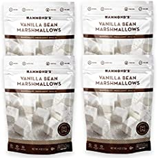 Hammond's Candies | Gourmet Vanilla Bean Marshmallows | 4 Bags, Great for Snacking | Hot Chocolate, S'mores and Homemade Brownies | Small Batches | Handcrafted in the USA