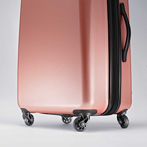 American Tourister Moonlight Hardside Expandable Luggage with Spinner Wheels, Rose Gold, Carry-On 21-Inch
