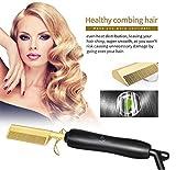Plancha para el cabello Top Beauty, 450ºF Peine caliente de