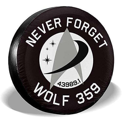 LYMT Never Forget Wolf 359 vervangende bandenafdekking universeel voor aanhanger RV SUV truck toebehoren aanhanger reis
