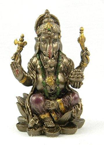 Fasherati Ganesha meditación Acabado Bronce Estatua/Ganesha