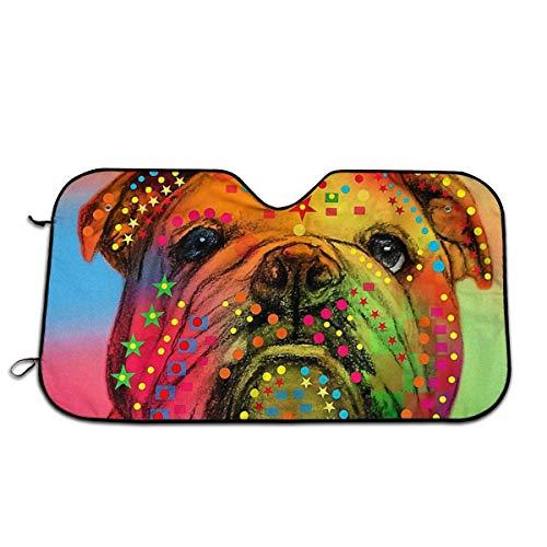 Aeykis Windschutzscheiben-Sonnenschutz, Motiv: Englische Bulldogge, für Autoscheiben, Sonnenblende, Dekoration, Outdoor-Zubehör, für Damen und Herren