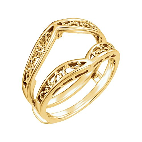 JewelryWeb Ringschutz 14 Karat Gelb Größe M 1/2