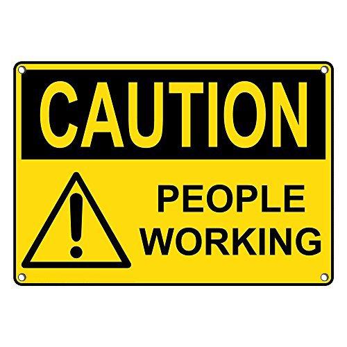 Weatherproof Plastic OSHA Caution People Industry No. 1 with Working Sale price Engli Sign