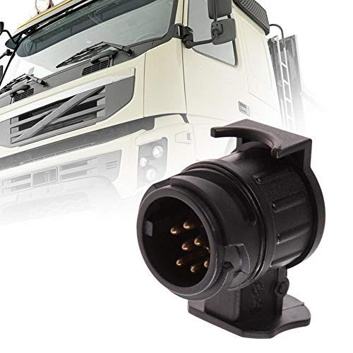 Adaptador de remolque de vehículo 13P a 7P Remolque adaptador de acoplamiento de enchufe for remolques estándar europeo Vehículos Comerciales semi-remolque remolque Conector Adecuado para camiones, ca