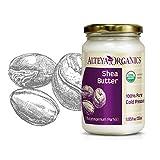 Alteya Organic mantequilla de Karité 350 ml – 100% USDA certificada manteca de karite refinada, natural y pura (Butyrospermum Parkii)