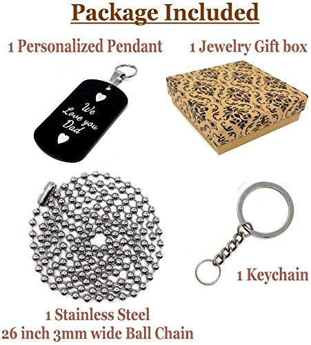 Personalized Sport Silhouette Customize Engrave Message Name Dog tag Necklace Pendant 24 inch Stainless Steel Chain Giftpouch and Keyring