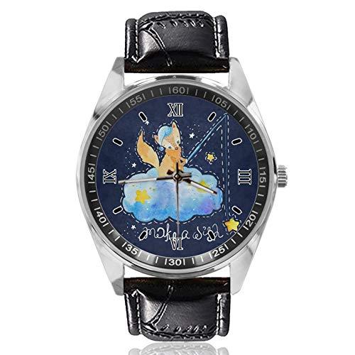 Fox Star Make A Wish - Reloj deportivo para mujer, diseño simple y moderno, diseño clásico