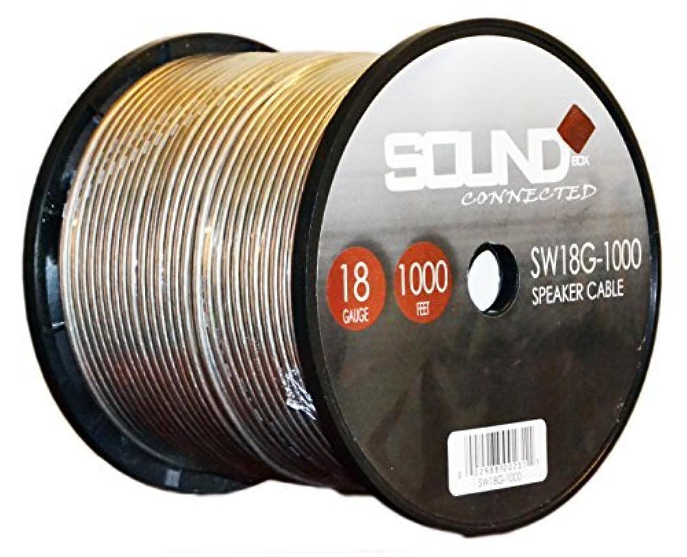 できた資本コントローラSoundBox Connected 18 Gauge 1000' Speaker Wire 18 Ga Clear Home/Car 1000 Ft. Speaker Cable Spool [並行輸入品]