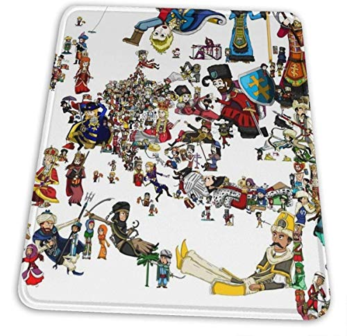 Europa Universalis National Personifications Map 1444 Hemming The Mouse Pad 10 X 12 Inch Esports