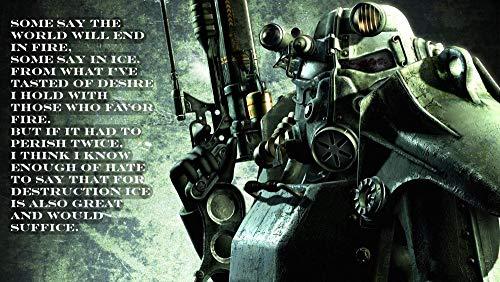 Puzzle 1000 Piezas,Videojuego Fallout para Adultos NiñOs, Educational Game para Aliviar EstréS Juego Intelectual, Navidad Juguete De Regalo Ideal 75x50CM