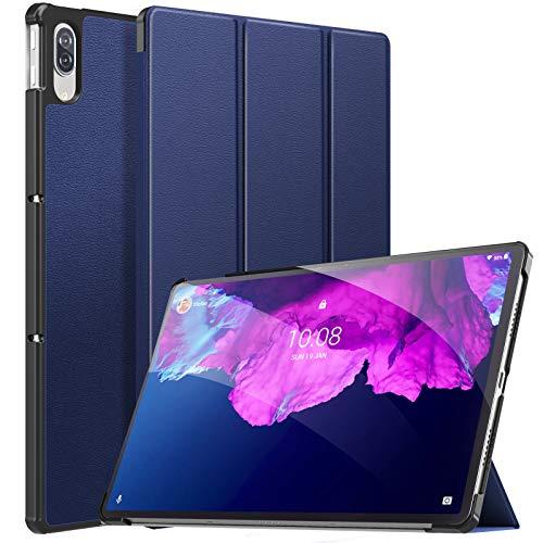 MoKo Funda Compatible con Lenovo Tab P11 Pro 11.5-Inch 2020 TB-J706F/J706L Tableta, Ultra Slim Ligera Función de Soporte Protectora Plegable Smart Cover Cubierta Durable Auto Sueño/Estela, Índigo