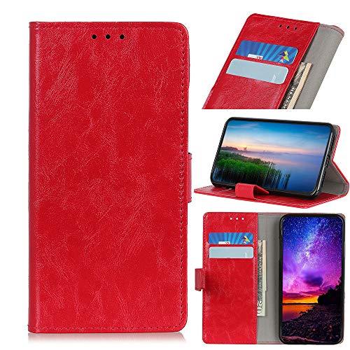 SWMGO® Flip Portafoglio Custodia per Asus Zenfone Max Plus(M2) ZB634KL/Asus Zenfone Max Shot ZB634KL (Rosso)