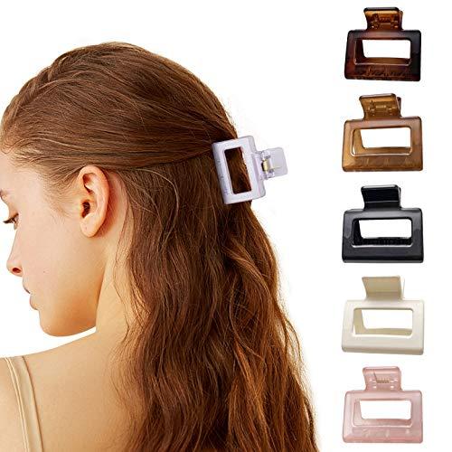 ITME 6 Stück Haarklauenclips, Mittelgroße Damen Haarspangen Französisches Design Vintage Haarklammer Rutschfeste Haargreifer Haarkrallen für Dickes und Dünnes Haar